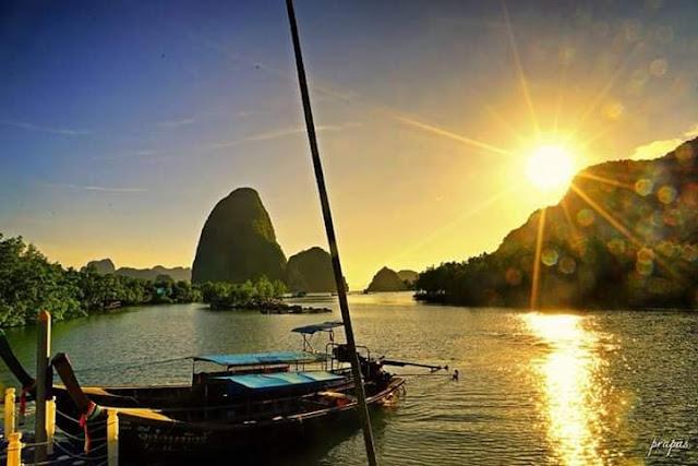 ทะเลแหวกบ้านหินร่ม หรือ ท่าเรือบ้านหินร่ม ที่เที่ยวใกล้เสม็ดนางชี ห่างจาก เสม็ดนางชี 1 กิโลเมตร