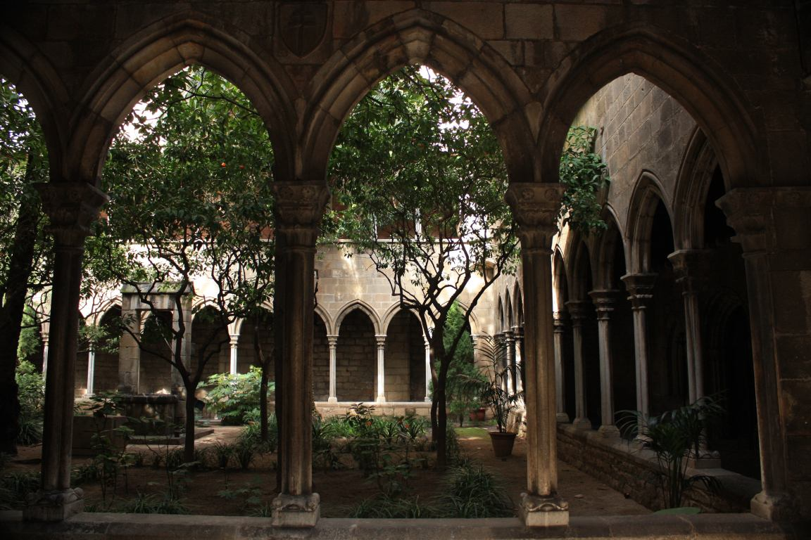 Cloister Of Santa Anna Church In The Barcelona Gothic Quarter