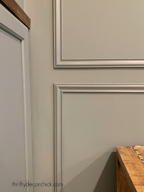 45 degree cut for wall molding boxes
