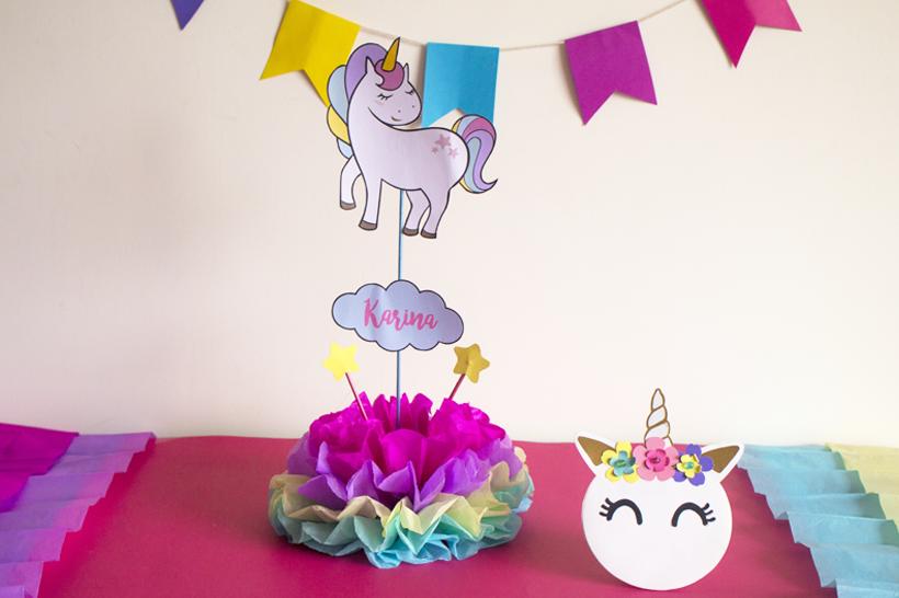 Diy Centro De Mesa De Unicornio Party Pop