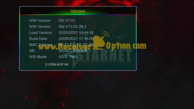 STARNET Q999 1507G 1G 8M NEW SOFTWARE WITH GO SAT PLUS V2 OPTION 29 MARCH 2021