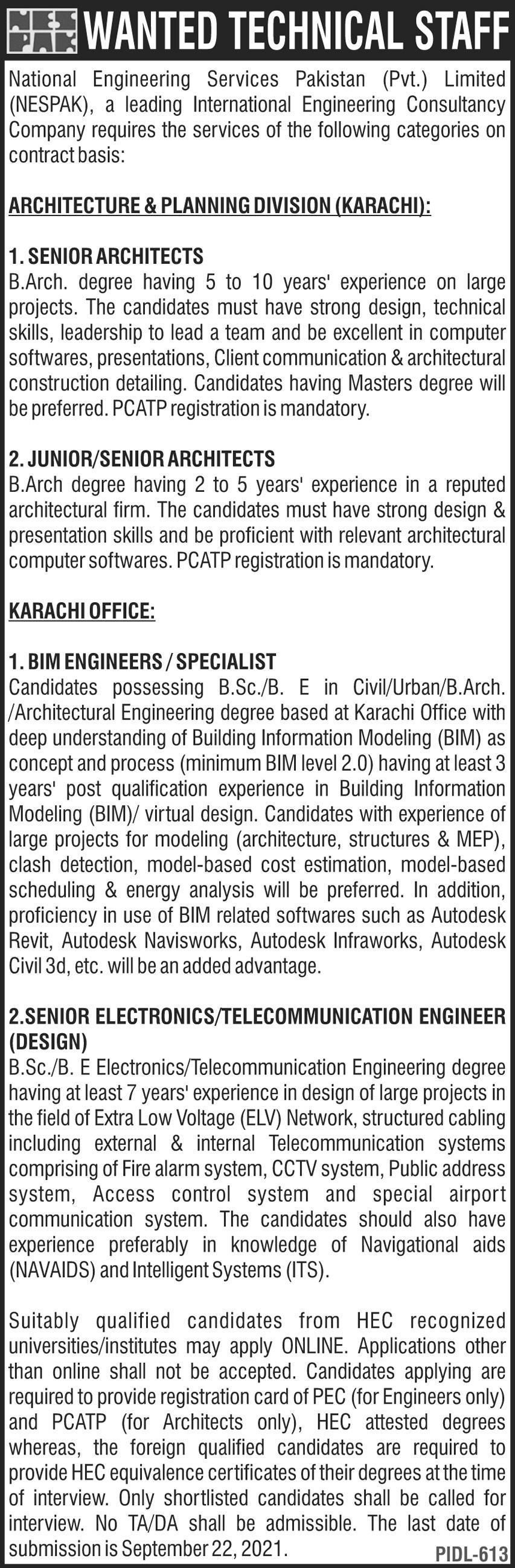 technical staff jobs 2021