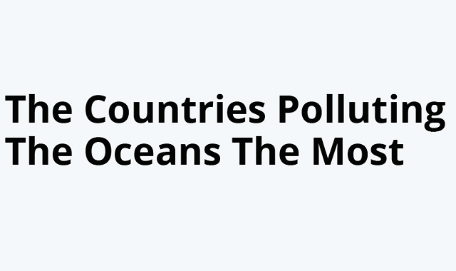 The Country Most Responsible For Ocean Pollution