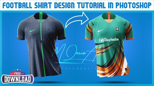 Football Shirt Design Tutorial + Free Yellow Image Mockup by M Qasim Ali