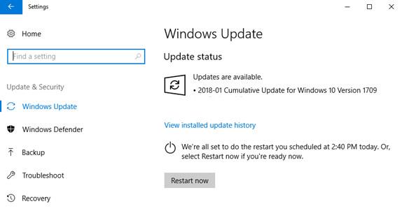 إصلاح مشاكل تحديث Windows 10 1
