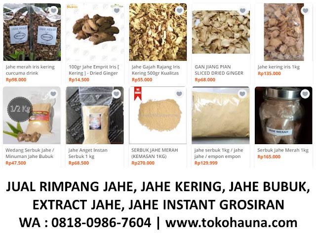 supplier jahe merah