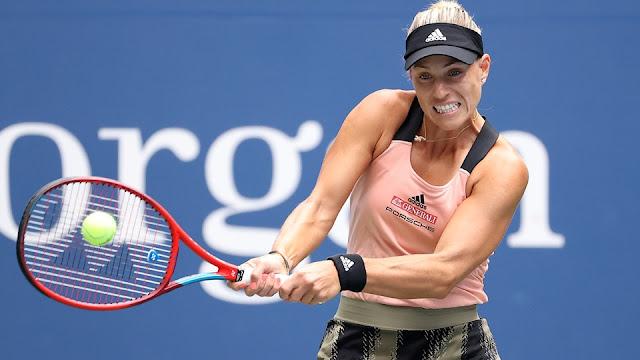 Angelique Kerber em ação no US Open