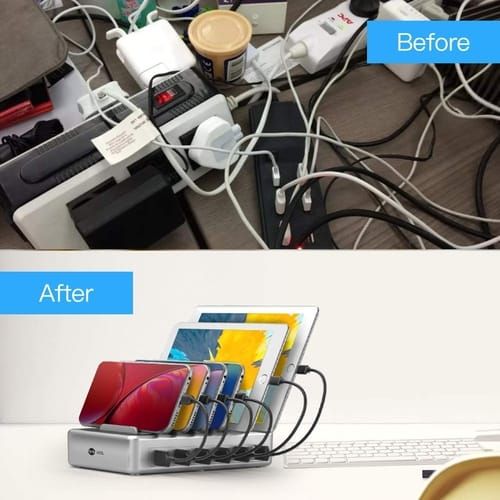 HSL 6 Port Fast Charging Station for iPhone iPad Android