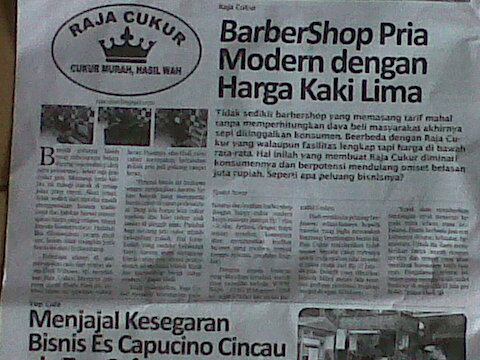 Raja Cukur Barbershop diliput Tabloid Business Opportunity edisi Juli 2013 7ba5bca7b6