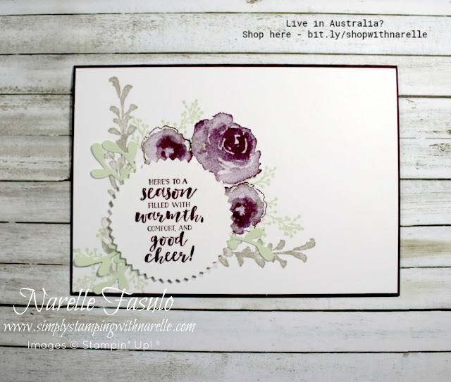 For more than just the Christmas season, the First Frost stamp set will see you creating gorgeous cards all year round. See it here - http://bit.ly/2ySEBjJ
