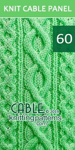 Knit Cable Panel Pattern 60, its FREE