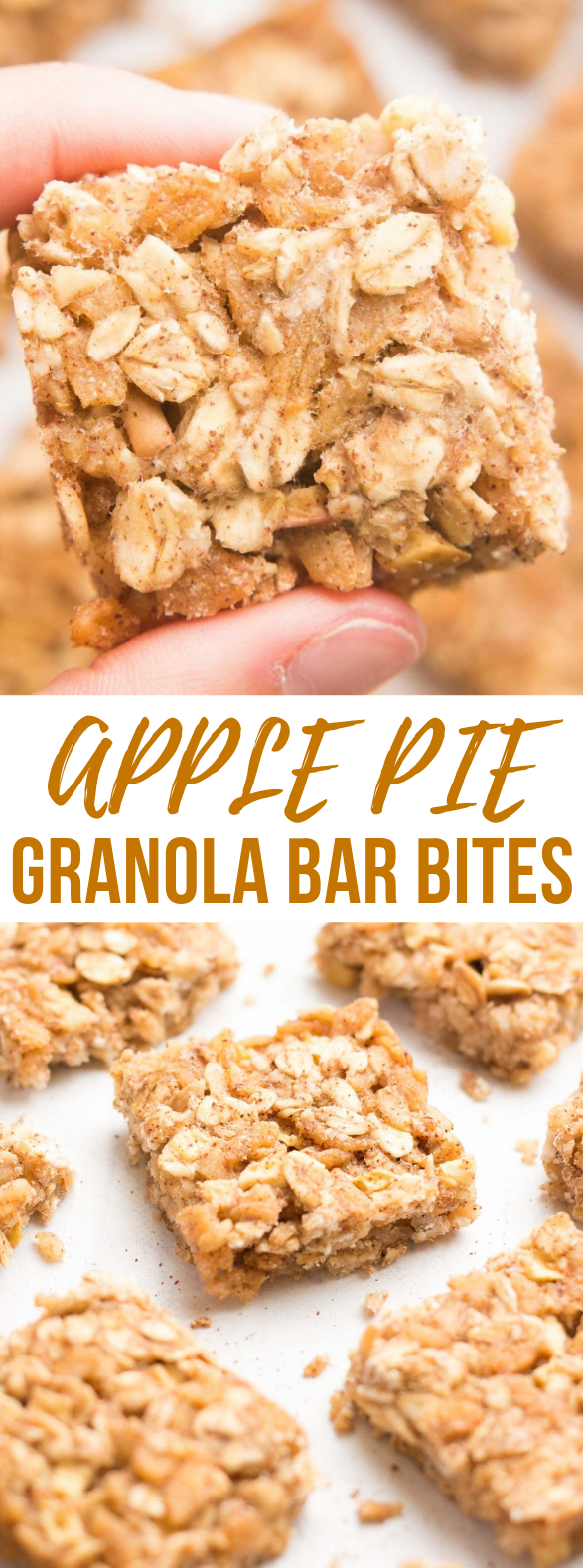 Healthy Apple Pie Granola Bar Bites #healthy #diet