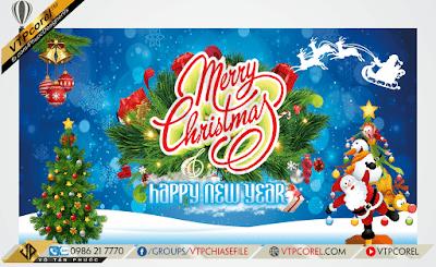Phông nền giáng sinh - Merry Christmas xanh dương