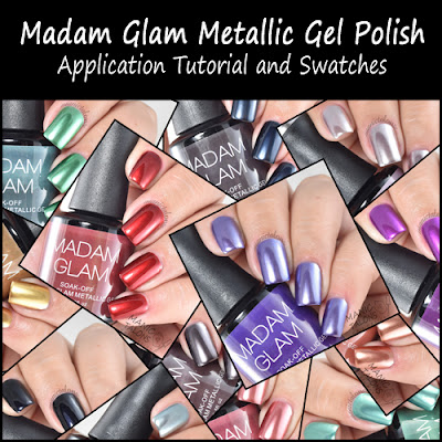 Madam Glam Metallic Gel Application and Swatches
