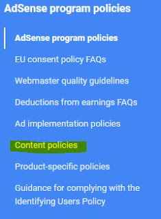 Google AdSense Program Policies