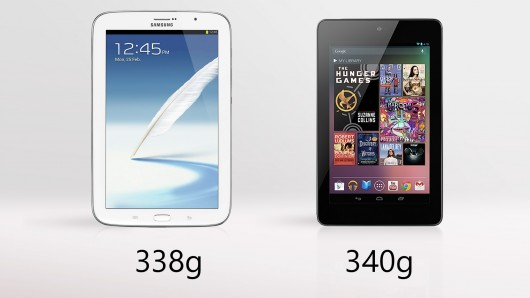 Galaxy Note 8 vs. Nexus 7