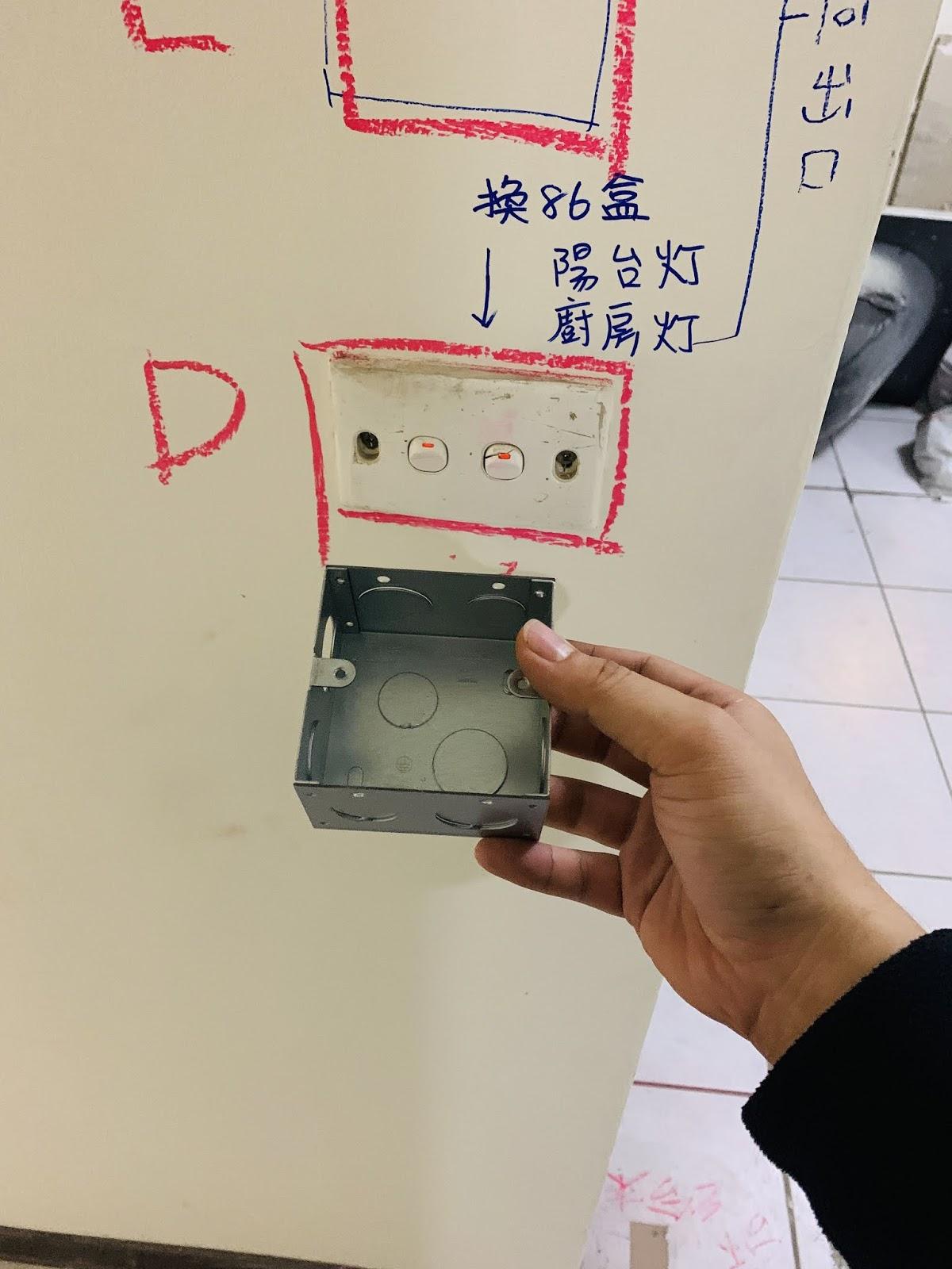 中國規格86暗盒