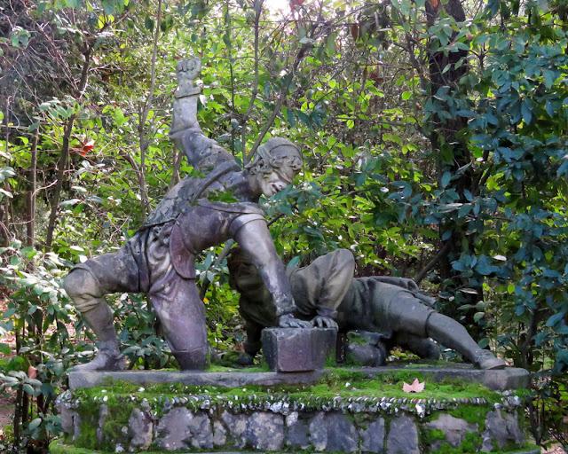 Giocatori del saccomazzone, Saccomazzone Players by Romolo del Tadda, Giardino di Boboli, Boboli Gardens, Florence