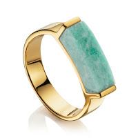 Modern Green Jewellery -  Monica Vinader Amazonite RIng
