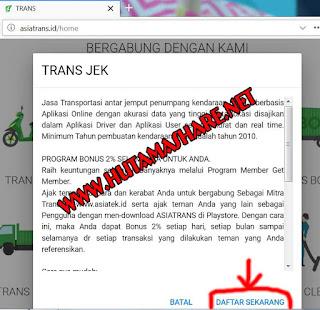 Cara Daftar Driver Asia Trans Jek