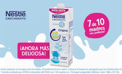 club embajadores Nestlé Bebé gratis Crecimiento Junior 1