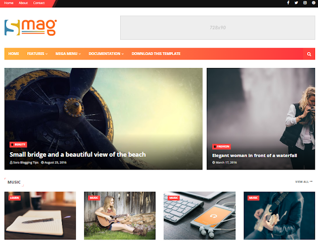 Smag Blogger Template