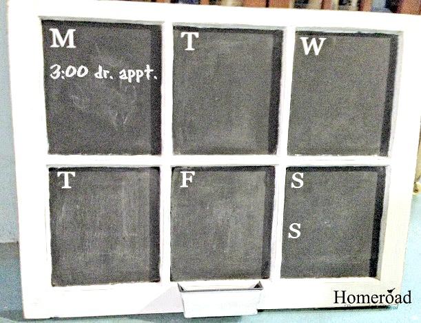 Window Weekly Calendar Chalkboard