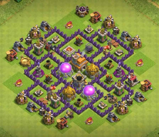 Base Town Hall 7 Clash of Clans Trophy