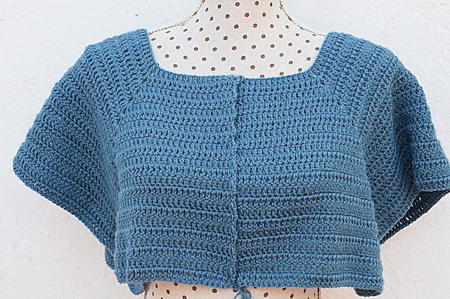 6 - Crochet Imagenen Canesú para chaqueta a crochet y ganchillo por Majovel Crochet