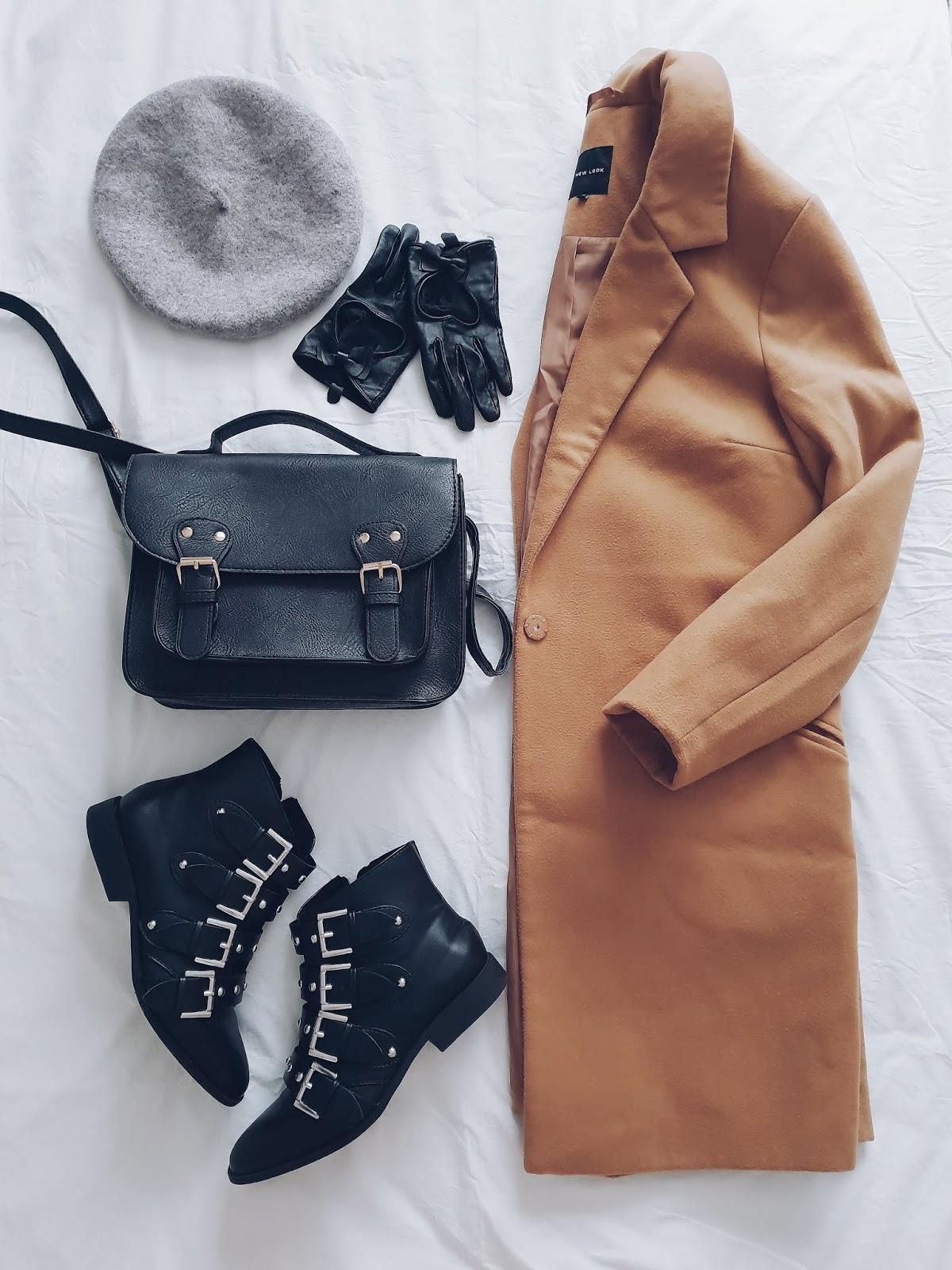 Camel coat & knitted maxi dress czyli jesienny strój dnia