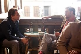 Tom Hardy as Bames, Leonardo DiCaprio as Cobb, Inception, Directed by Christopher Nolan