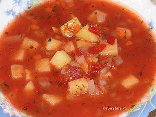 Supa de rosii cu legume de post reteta de casa taraneasca cu fidea roșii ceapa ardei morcov usturoi si piper retete culinare mancare supe,