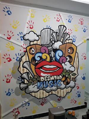 gambar mural dinding studio musik