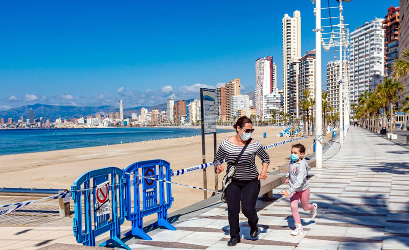 European beach resorts could open this summer under plans for 'tourist corridors' to protect people from the coronavirus.