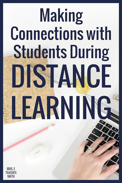 Distance learning can be rough on teachers and students! These tips for making connections during remote teaching will help you relate to your students.