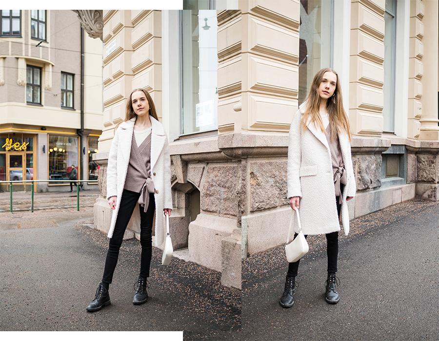 Trendikäs baguette bag, muotibloggaaja // Trendy baguette bag, fashion blogger