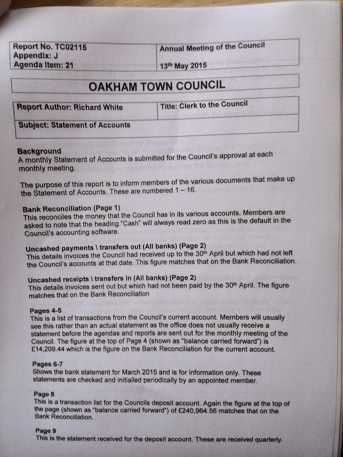 Martin Brookes Oakham Rutland England: Oakham Town Council ...