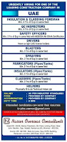 Leading Construction Company Requirement UAE