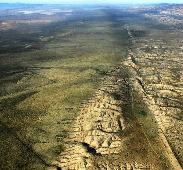 San Andreas transform fault on the Carrizo Plain