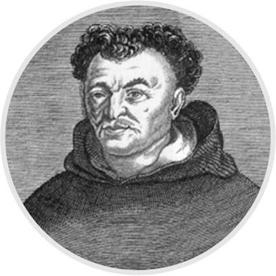 Томмазо Кампанелла (1568–1639) – італійський теолог, поет, астролог. Kupferstich mit dem Portrait Tommaso Campanellas. Гравюра авторства Ніколаса III де Лармессена.
