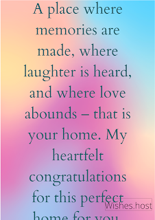 new home wishes messages