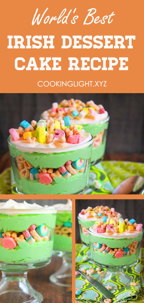 Irish Dessert Cake Recipe is a best dessert cake in Ireland - St. Patrick's Day Desserts to Inspire True Irish Smiles. Easy cake recipes, Irish desserts traditional, Dump cake recipes, Poke cake recipes, Baileys chocolate poke cake, Yellow cake mix desserts #stpatricksday #marshmallow #dessert #recipes #holidayrecipes #irishdessert #irishdessertcake #irishdesserttraditional #traditional