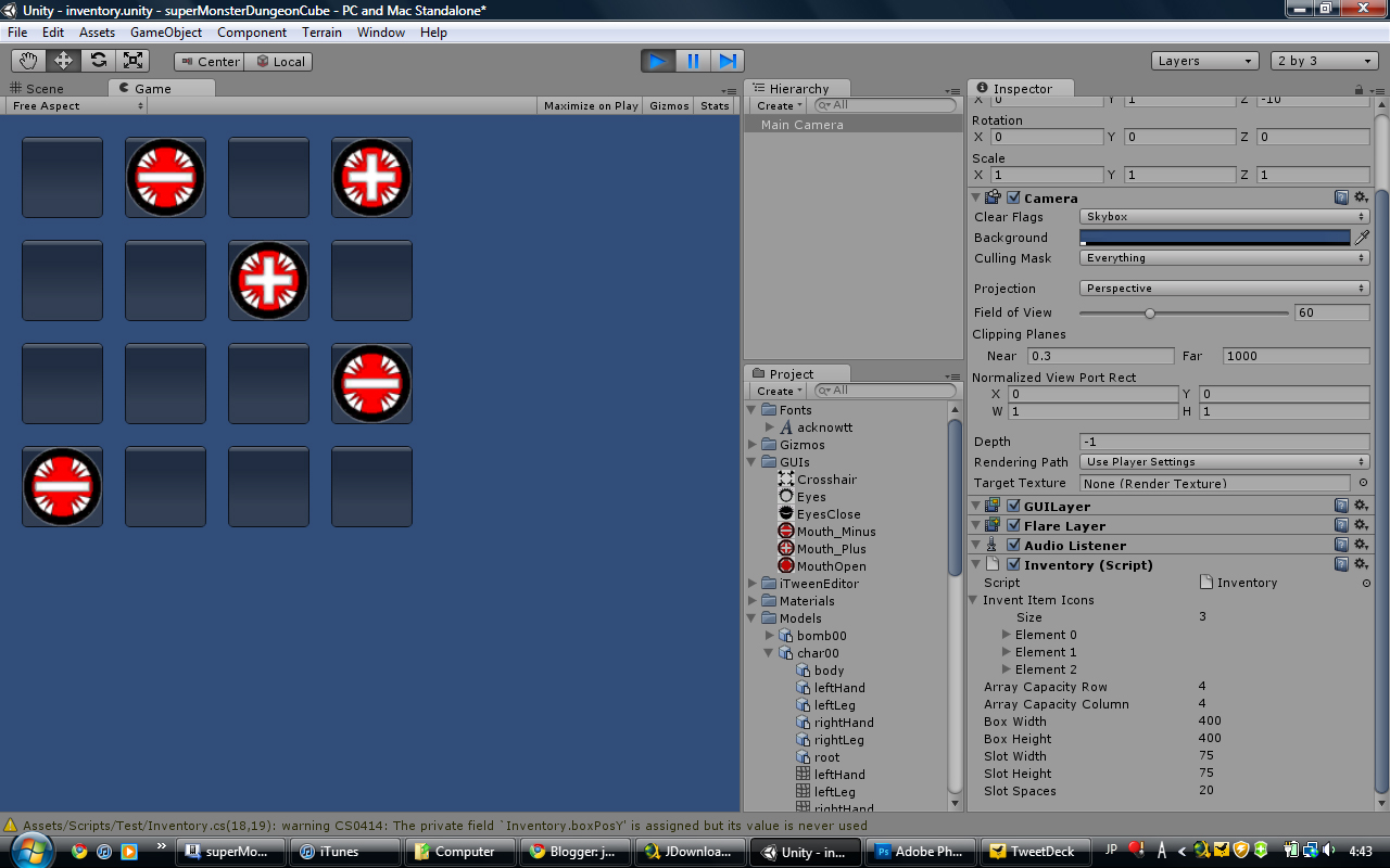 jakel168's game development: Unity3d + C#: My early