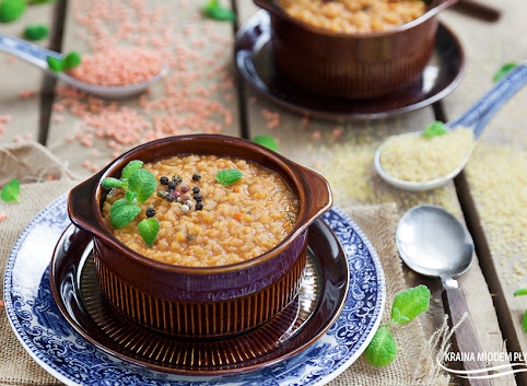 Turecka zupa- z czerwonej soczewicy i bulguru