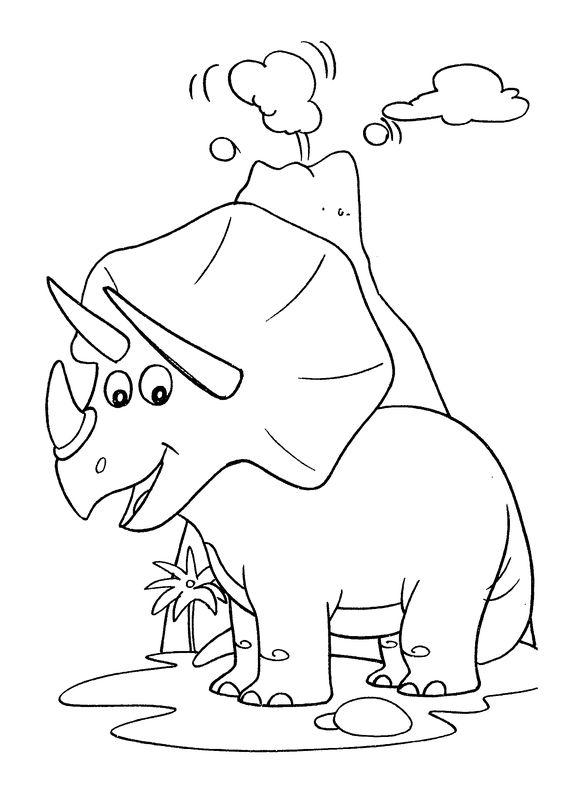 Hình tô màu con khủng long