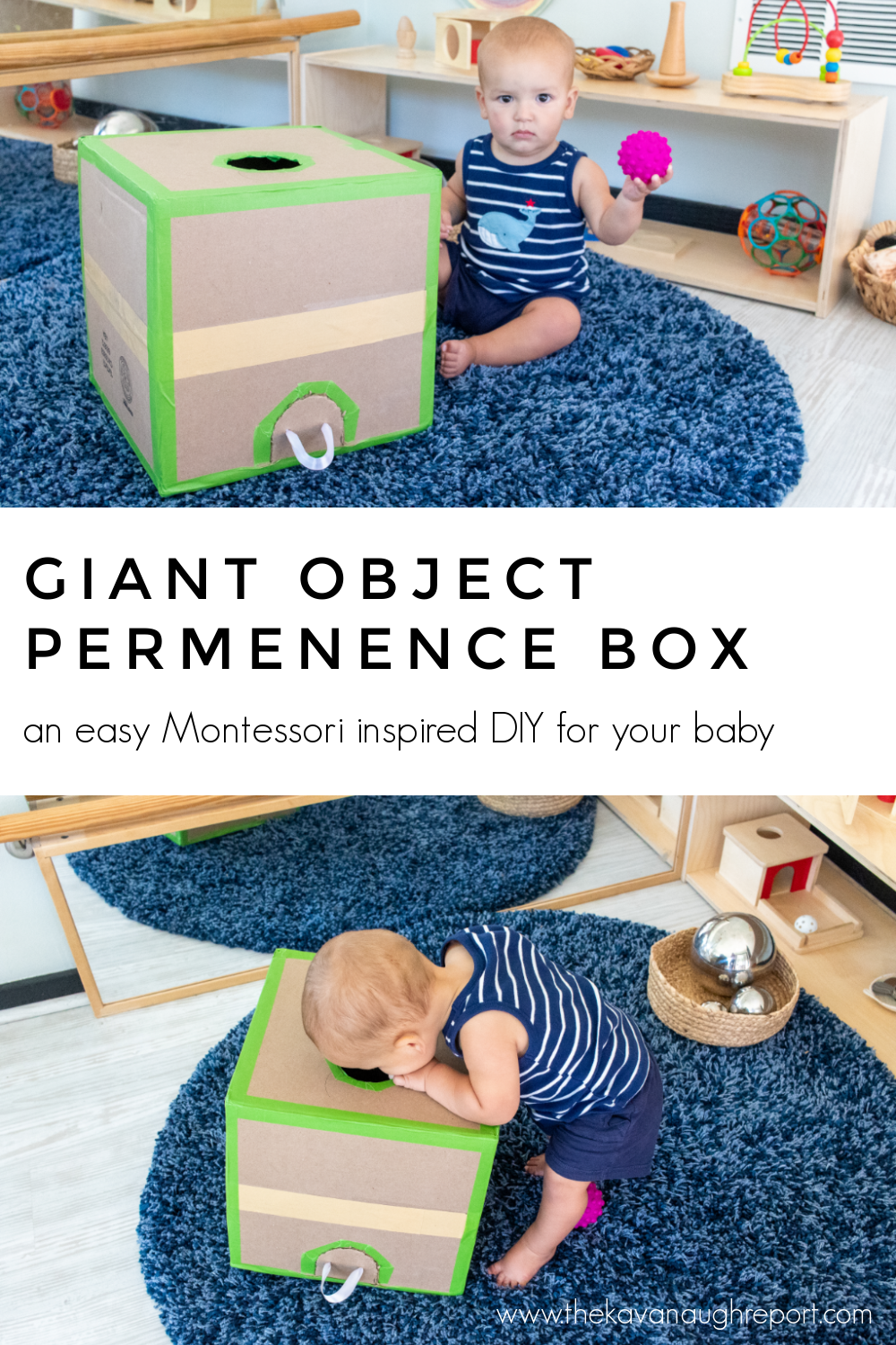 This  Montessori baby DIY is an easy way to entertain and play with your baby while making learning fun.