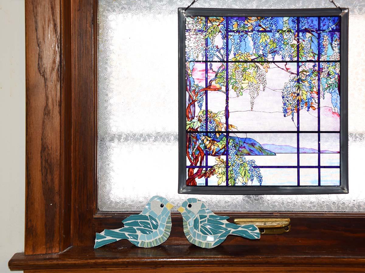 Small Mosaic bird and Window