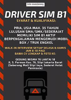Info Lowongan Kerja Driver IndoStationery Jakarta