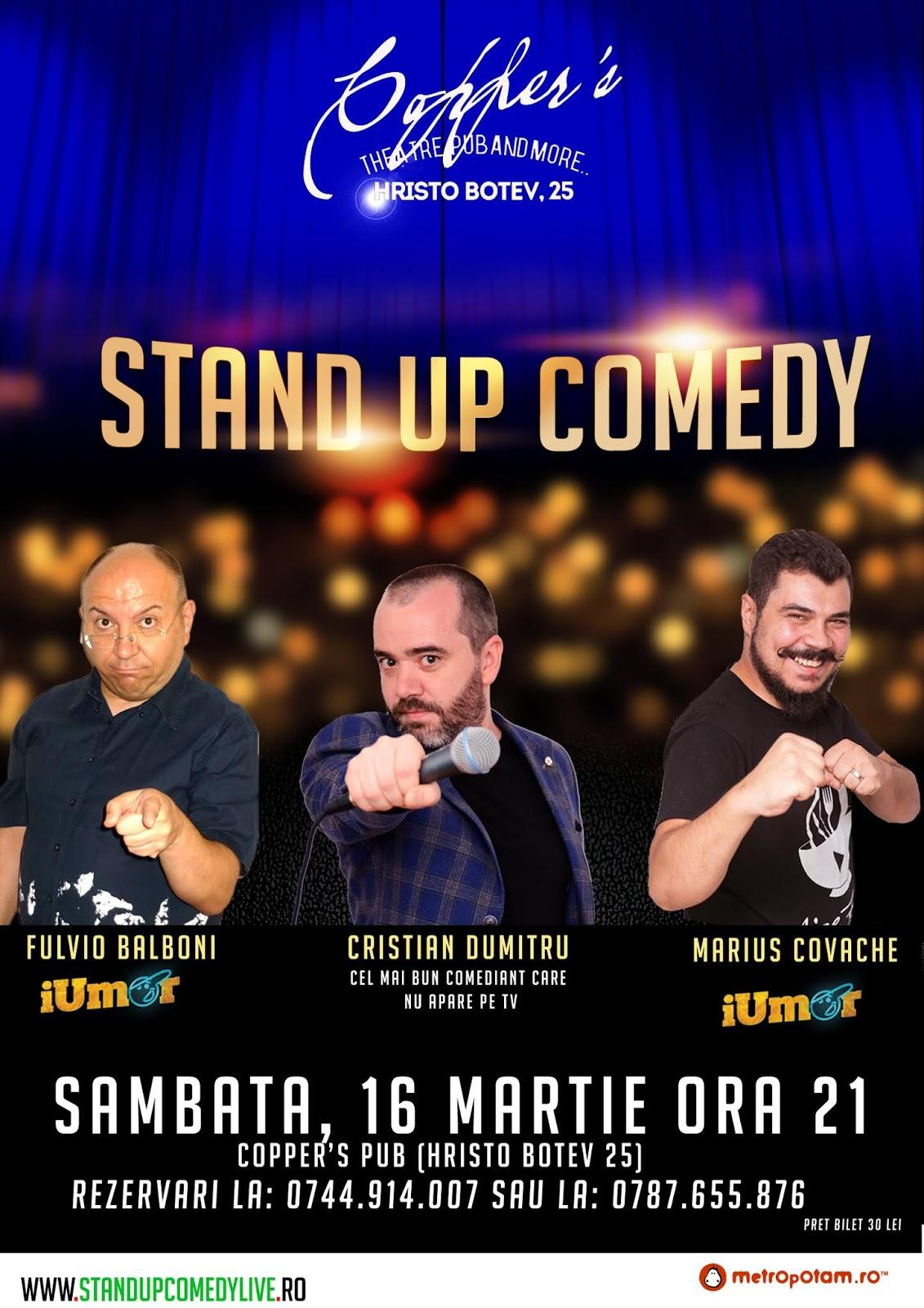 Stand-Up Comedy Sambata 16 martie Bucuresti