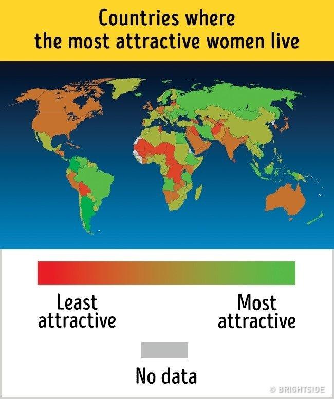 Các quốc gia có phụ nữ quyến rũ nhất
